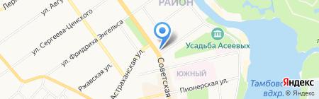 Контур на карте Тамбова
