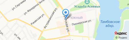 Юрэкст на карте Тамбова