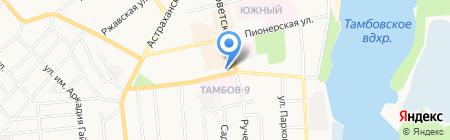 Росинка на карте Тамбова