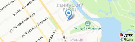 Детский сад №12 Звёздный на карте Тамбова