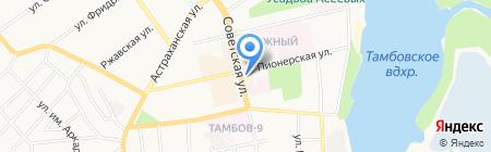 Южный на карте Тамбова
