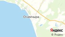 Частный сектор города Очамчыра на карте