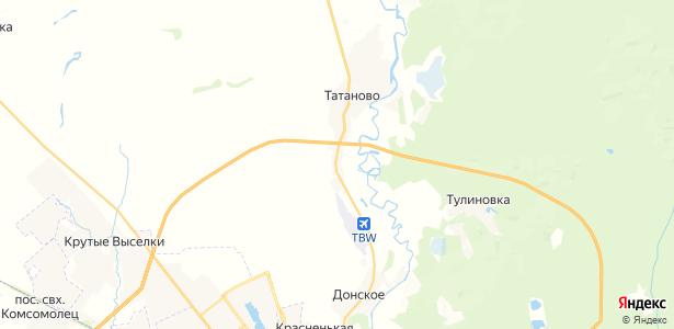 Татаново на карте