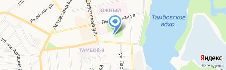Гейзер на карте Тамбова