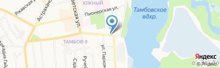 Дворик на карте Тамбова