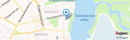 Детский сад №44 на карте Тамбова