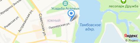 Отделение почтовой связи №23 на карте Тамбова