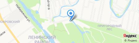 В парке Дружба на карте Тамбова