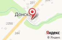 Схема проезда до компании Пятёрочка в Донском