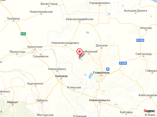 поселок городского типа Солнечнодольск на карте