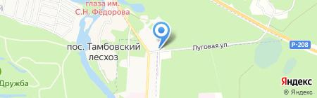 Спартак на карте Тамбова