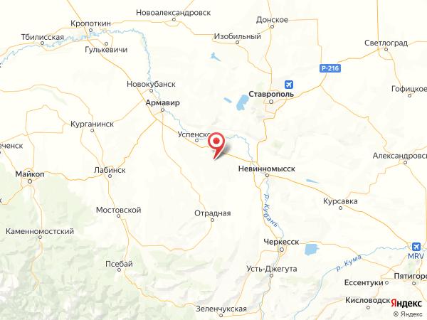 хутор Херсонский на карте