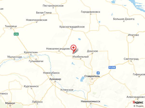посёлок Передовой на карте