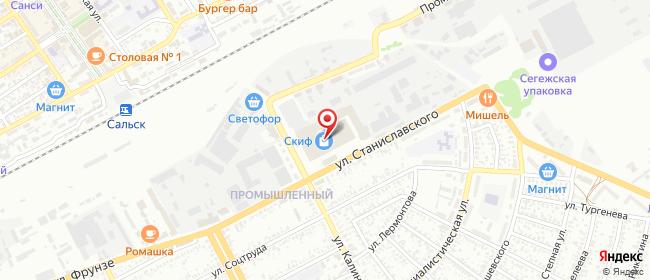 Карта расположения пункта доставки СИТИЛИНК в городе Сальск