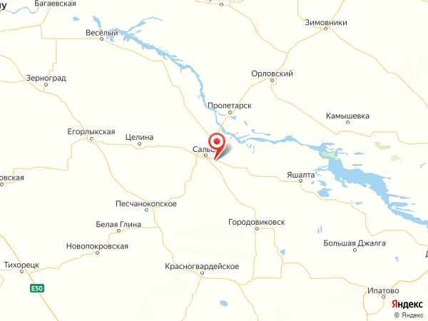 поселок Рыбасово на карте