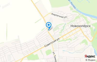 Местоположение на карте пункта техосмотра по адресу Воронежская обл, г Новохоперск, ул Плотникова, д 27