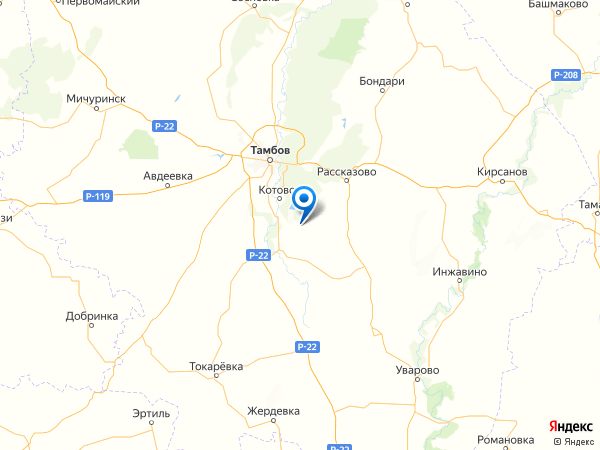 село Княжево на карте