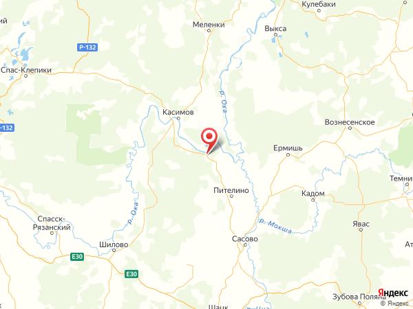 село Балушевы Починки на карте