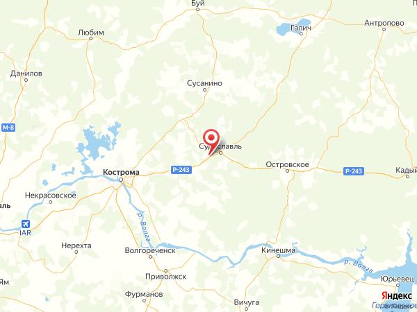 поселок Лукино на карте