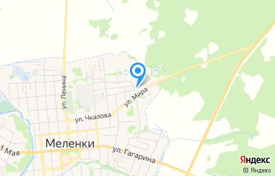Местоположение на карте пункта техосмотра по адресу Владимирская обл, г Меленки, ул Мира, д 17Б