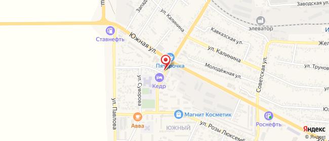Карта расположения пункта доставки Пункт выдачи в городе Изобильный