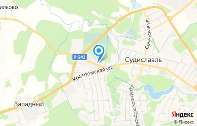 Местоположение на карте пункта техосмотра по адресу Костромская обл, пгт Судиславль, ш Шаховское, д 3Б