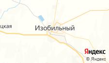 Гостиницы города Изобильный на карте
