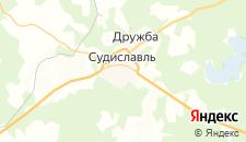 Гостиницы города Судиславль на карте