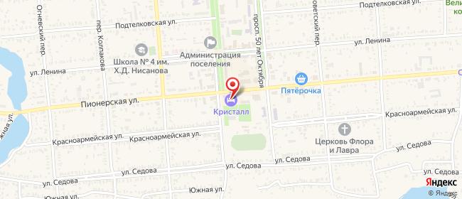 Карта расположения пункта доставки Пролетарск Пионерская в городе Пролетарск