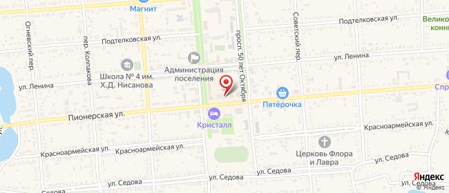 Карта расположения пункта доставки СИТИЛИНК в городе Пролетарск