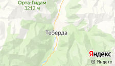 Гостиницы города Теберда на карте