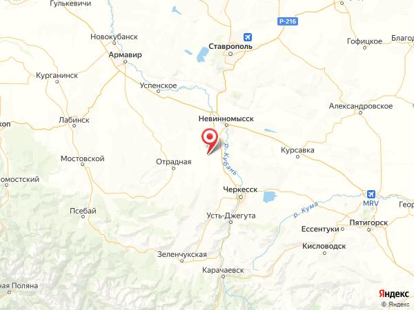 поселок Киево-Жураковский на карте