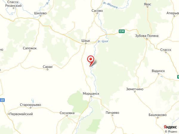 поселок Красный на карте