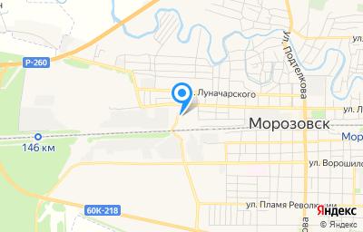 Местоположение на карте пункта техосмотра по адресу Ростовская обл, г Морозовск, ул К.Либкнехта, д 6