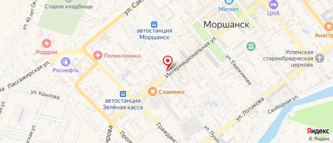 Карта расположения пункта доставки Ростелеком в городе Моршанск