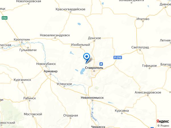 станица Новомарьевская на карте