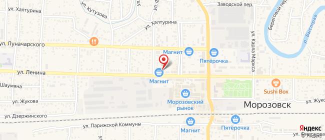 Карта расположения пункта доставки СИТИЛИНК в городе Морозовск