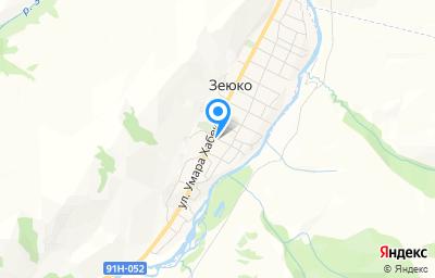 Местоположение на карте пункта техосмотра по адресу Респ Карачаево-Черкесская, Хабезский р-н, аул Зеюко, ул М.Акова, д 16