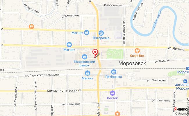 Карта расположения пункта доставки Билайн в городе Морозовск