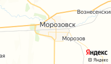 Гостиницы города Морозовск на карте