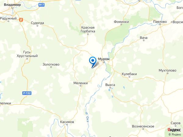 деревня Городищи на карте