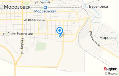 Местоположение на карте пункта техосмотра по адресу Ростовская обл, г Морозовск, ул Пастухова, д 1