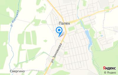 Местоположение на карте пункта техосмотра по адресу Ивановская обл, п Палех, ул Зиновьева, д 2В