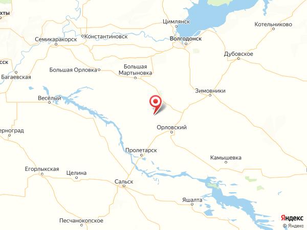 хутор Нижнеталовый на карте