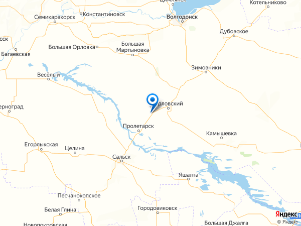 хутор Донской на карте