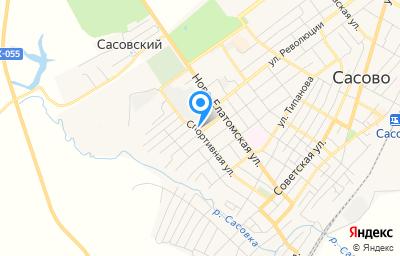 Местоположение на карте пункта техосмотра по адресу Рязанская обл, г Сасово, ул Крупской, д 2