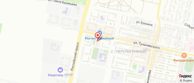 Карта расположения пункта доставки Ставрополь Тухачевского в городе Ставрополь