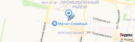 Магазин овощей и фруктов на ул. Тухачевского на карте Ставрополя