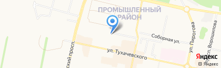 Молодёжный-4 на карте Ставрополя