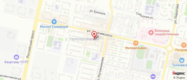 Карта расположения пункта доставки Пункт выдачи в городе Ставрополь